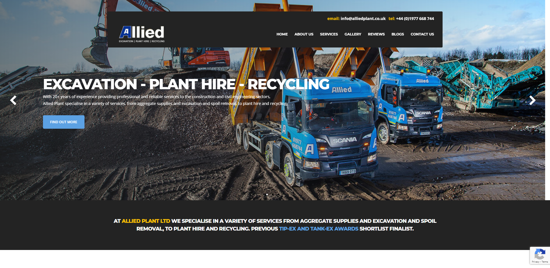 Allied Plant homepage banner